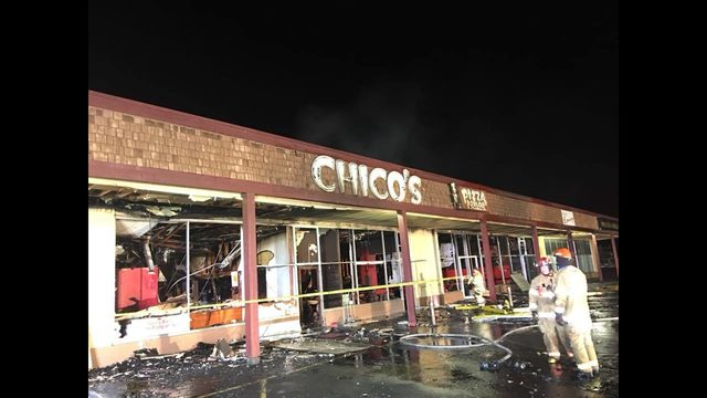 Iconic Moses Lake pizza parlor on fire