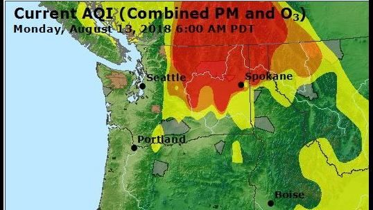 Air quality in Spokane, Coeur d'Alene rated 'unhealthy'