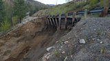 Washout causes road block on SR 20 west of Okanogan