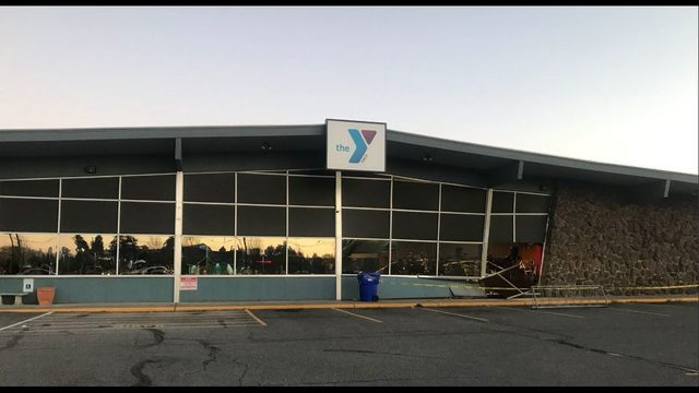 Car crashes through window at South Hill YMCA, injuring multiple people