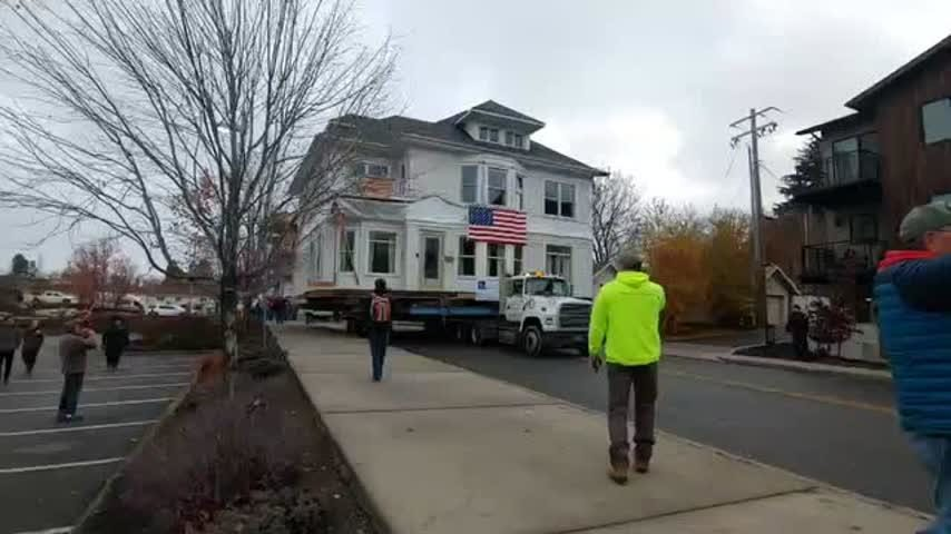 Historic Coeur d'Alene home wheeled down city streets