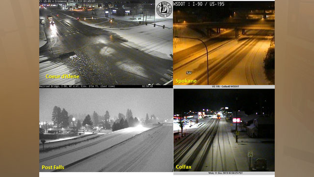 Snowy morning causes slick roads