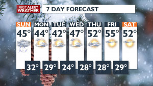 7 DAY FORECAST FOR FEBRUARY 22