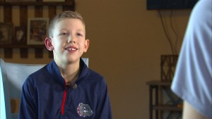 Post Falls nine year old Nick Ludwig found a way to compete through tough medical limitations