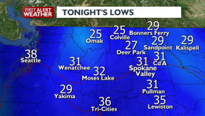 TONIGHTS LOWS FOR FEBRUARY 23