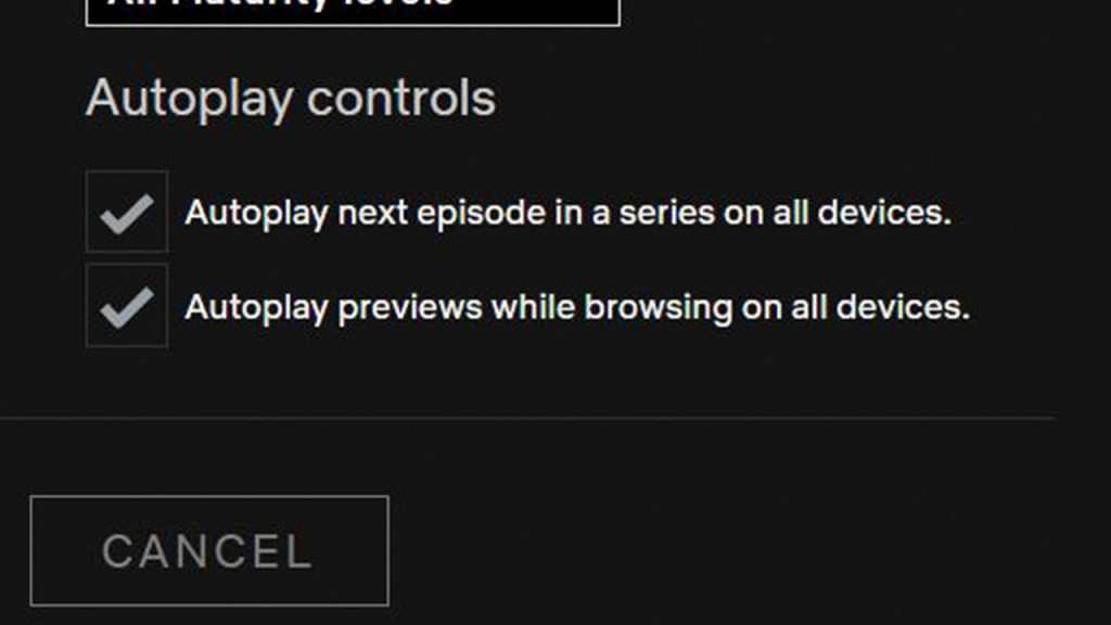 Hot to turn off autoplay
