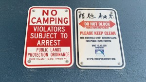 New 'No Camping' signs posted around downtown Spokane