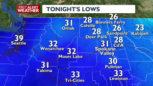 Tonights Lows For March 12