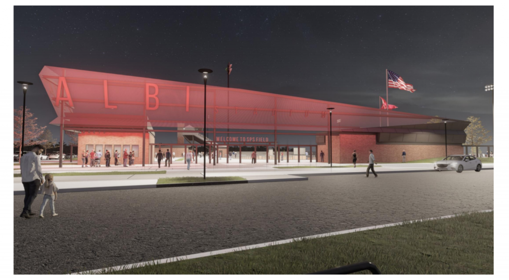 Image of the proposed plans for the new Joe Albi Stadium