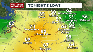 Tonights Lows July 20