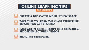 Online learning tips for students