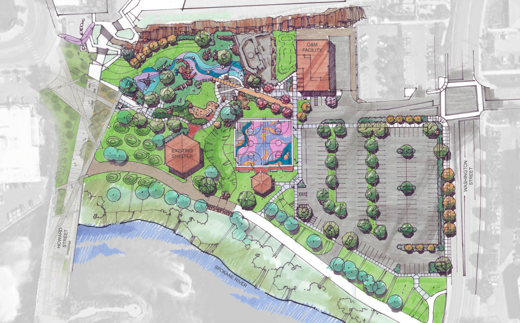 Playground at Riverfront Park rendering