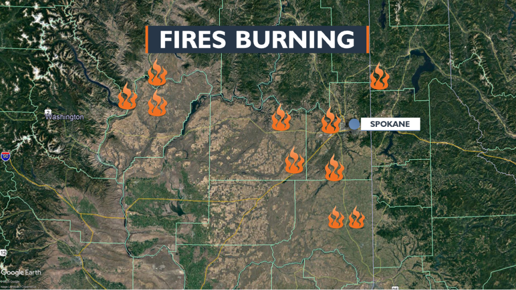 List Roads Begin To Reopen Following Monday S Wildfire Closures Kxly