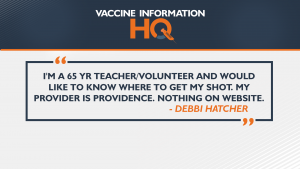 Debbi Hatcher asks 4 News Now about vaccine