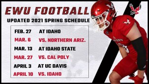 The Eastern Eagles have released their Spring football schedule