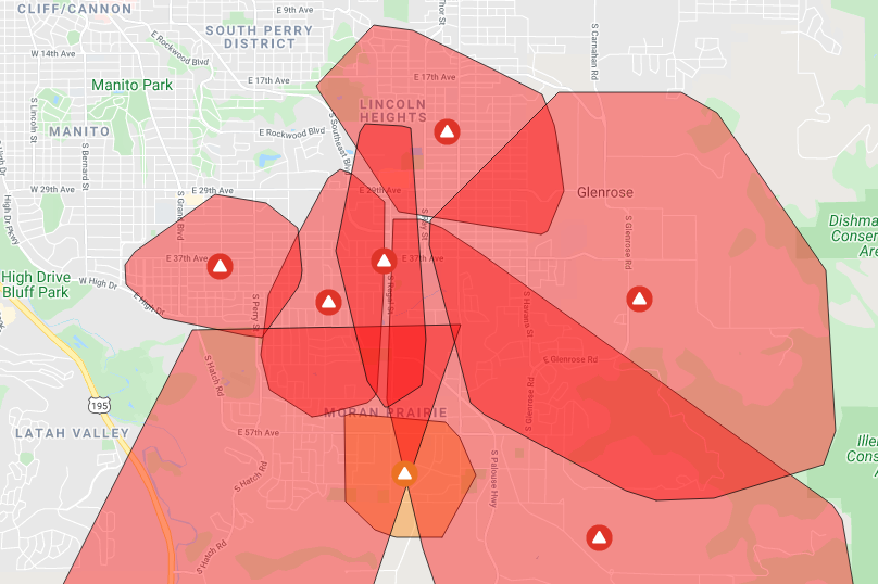 Outage Map 4 22