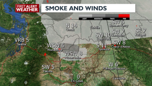 Smoke levels are moderate outside of wildfires.